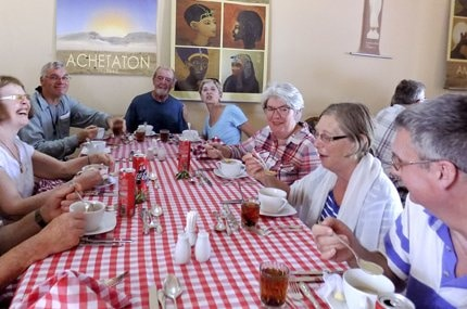 2015 LONG CRUISE AMARNA GROUP LUNCH Ancient World Tours