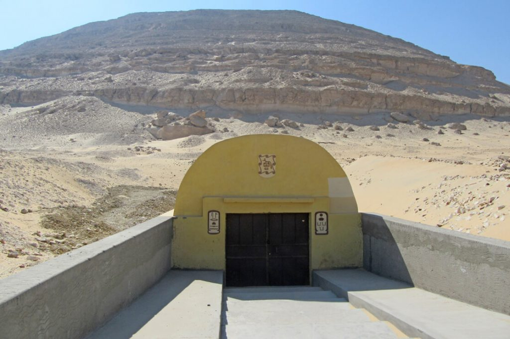 Senusret III Tomb Entrance, Abydos, Egypt, Ancient World Tours