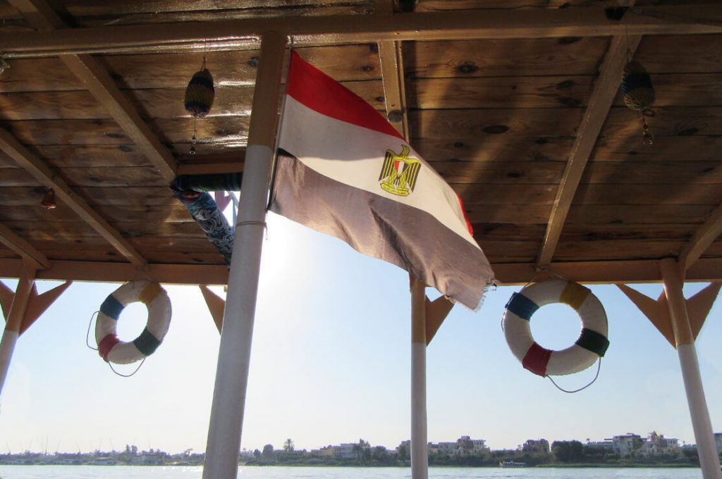Flag on Boat, Abydos Explorer, Tour Report