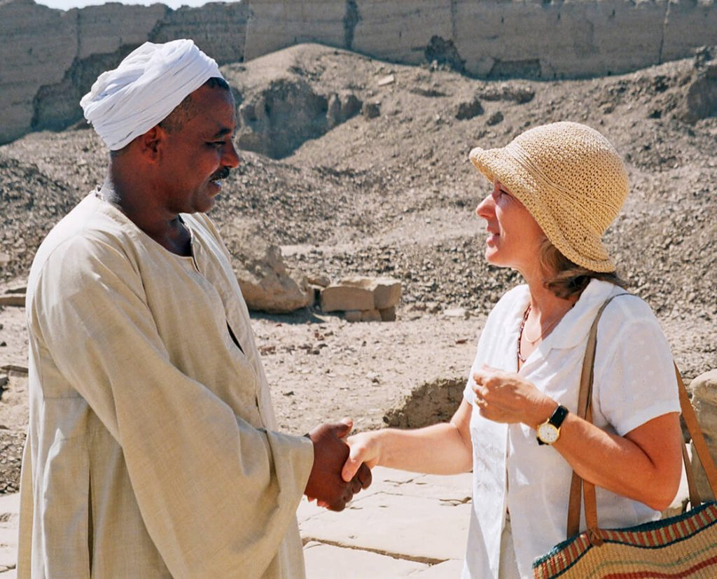 Tour manager, Janet and Guardian, Ancient World Tours