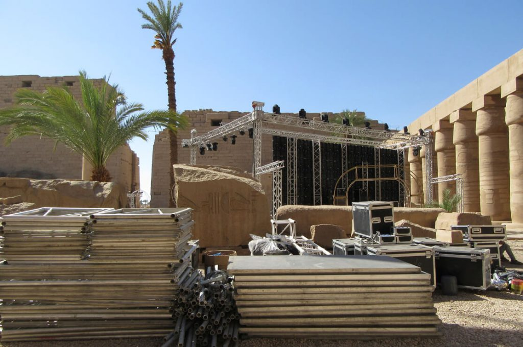 Karnak Temple, Film Crew, Luxor, Nile, Ancient World Tours