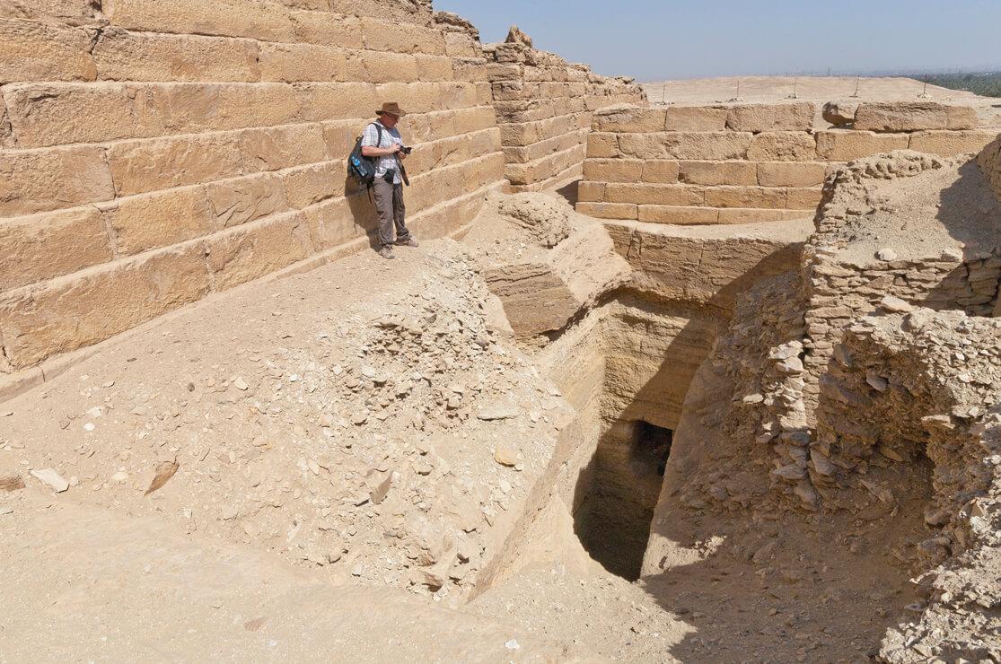 Colin Reader exploring Saqqara