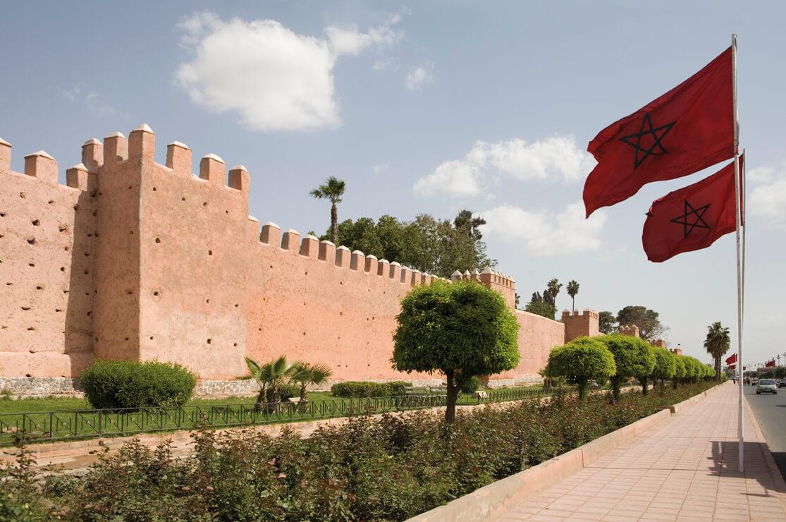 Marrakech city wall